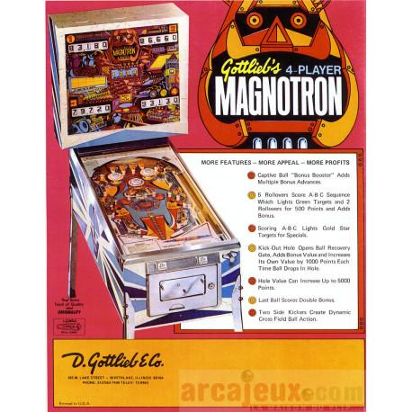 Flipper MAGNOTRON - Gottlieb - 1974